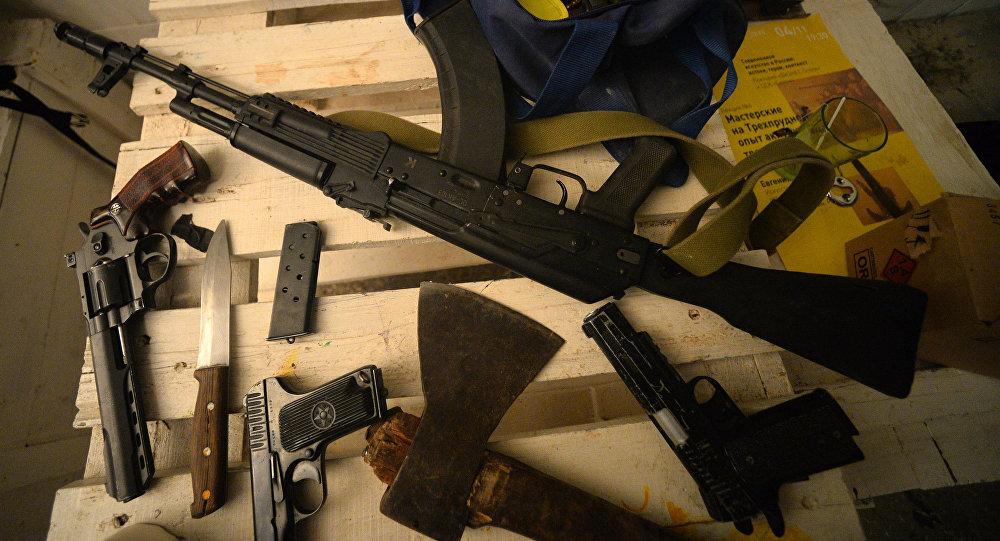 Разные виды оружия. Архивное фото