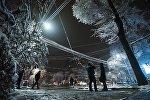 Морозная погода в Бишкеке. Архивное фото