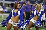 Baltimore Ravens командасы менен беттешкен Dallas Cowboys командасынын сүрөөнчү кыздары. Техас