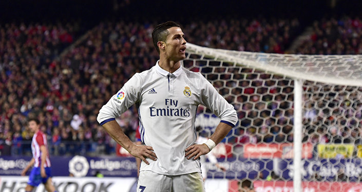 Архивное фото нападающего клуба Реал Мадрид Криштиану Роналду