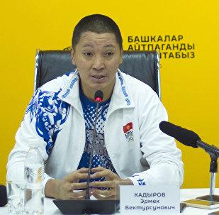 Руководитель танцевальной группы Тумар Эрмек Кадыров на пресс-конференции в мультимедийном пресс-центре Sputnik Кыргызстан