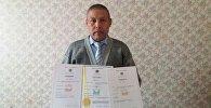 Преподаватель Ошского технологического университета Баатыр Акматов, который сконструировал экономичный электрокотел