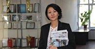 Архивное фото руководителя пресс-службы ОАО НЭСК Эльзады Саргашкаевой
