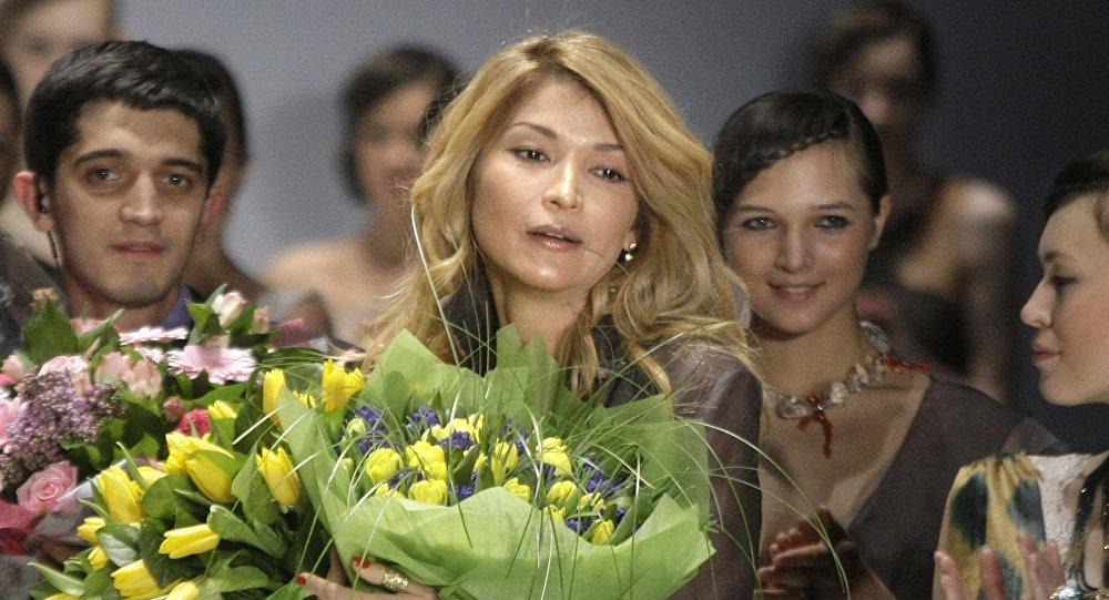 Өзбекстандын биринчи президенти Ислам Каримовдун кызы Гүлнара Каримова. Архивдик сүрөт