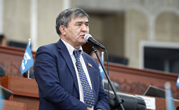 Депутат Жогорку Кенеша от фракции Республика — Ата-Журт Экмат Байпакбаев. Архивное фото