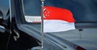 Флаг Республики Сингапур. Архивное фото