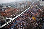 Антиправительственная акция протеста в столице Южной Кореи Сеуле