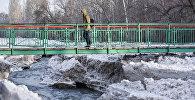 Река Ала-Арча в городе Бишкек. Архивное фото