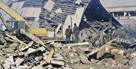 Последствия мощного землетрясения в северных районах Армении. Город Спитак в руинах. Архивное фото