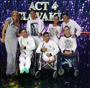Танцевальная группа на колясках Тумар на конкурсе Česko Slovensko má talent в Словакии