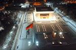 Ночной Бишкек с высоты