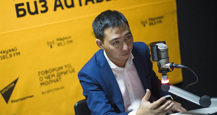 Маданият, маалымат жана туризм министри Азамат Жаманкуловдун архивдик сүрөтү