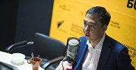 Маданият, маалымат жана туризм министри Азамат Жаманкулов. Архивдик сүрөт