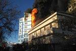 Бишкектин 7-кичи районундагы өрт. Архив