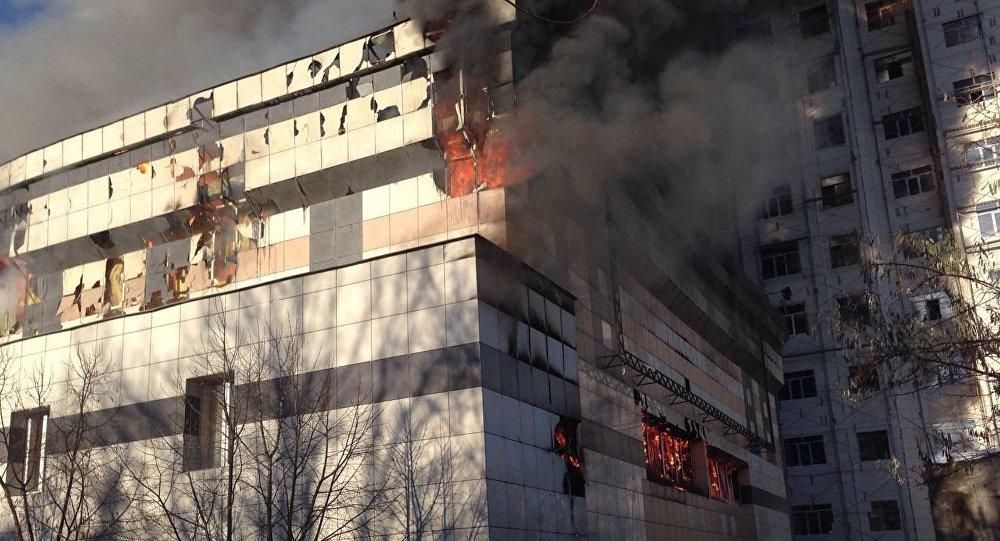 Огнеборцы устранили большой пожар вБишкеке