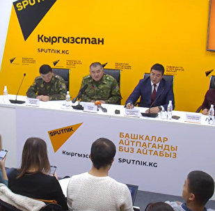 Экстренная пресс-конференция в связи с пожаром на юге Бишкека