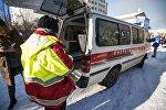 Автомобиль скорой помощи на месте происшествия. Архивное фото