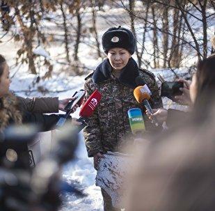 Архивное фото пресс-секретаря Министерства чрезвычайных ситуаций КР Эльмиры Шериповой