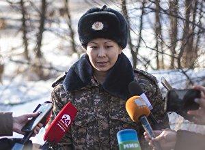 Архивное фото руководителя пресс-службы Министерства Чрезвычайных ситуаций Кыргызстана Элмиры Шериповой