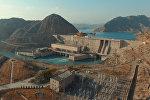 Таш-Көмүр ГЭСинин асмандан көрүнүшү