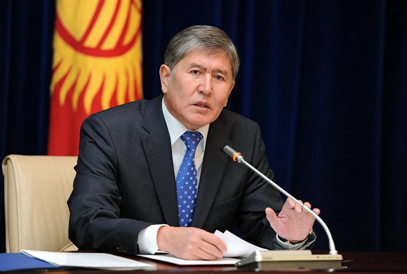 Президент Кыргызской Республики Алмазбек Атамбаев на пресс-конференции в Государственной резиденции Ала-Арча, посвященную итогам 2011 года