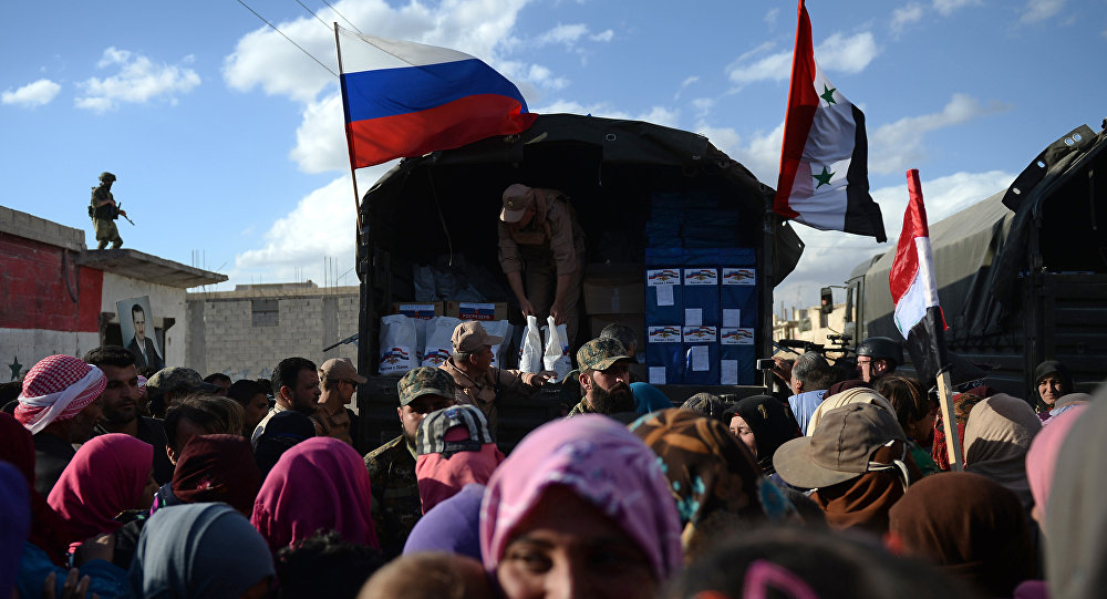 Россия аскерлеринин сириялыктарга жардам көрсөтүүсү