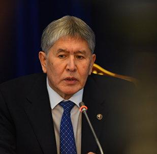 Президент Кыргызстана Алмазбек Атамбаев на пресс-конференции по итогам 2016 года
