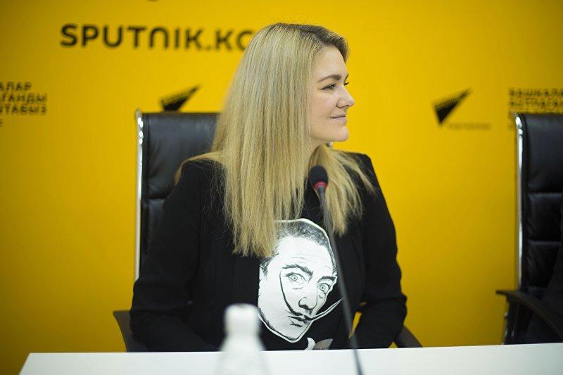 Координатор по проведению крупнейшего хакатона в Европе, Азии и Африке Garage48 Кай Айсэнд (Эстония) на пресс-конференции в мультимедийном центре Sputnik Кыргызстан