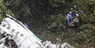 Крушение самолета с бразильскими футболистами на борту в Колумбии. Архивное фото