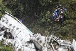 Колумбиядагы бразилиялык футболчулар менен учактын кулашы. Архивдик сүрөт