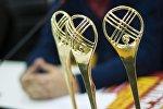 Статуэтка Международного кинофестиваля Кыргызстан — страна короткометражных фильмов. Архивное фото