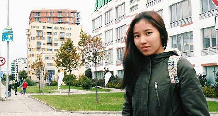 Чехиянын Прага шаарындагы Банк институтунда Евробиримдиктин Эразмус Мундус долбоору аркылуу окуп жаткан кыргызстандык студент Айгерим Бирназарова