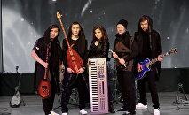 Казакстандык Novaliveband рок-группасы. Архивлдик сүрөт