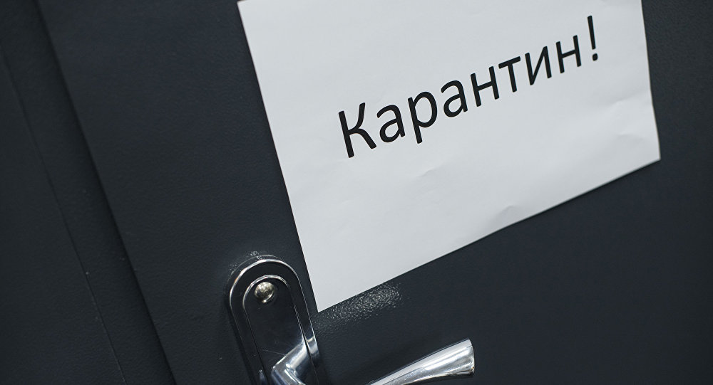 Объявление о карантине на двери. Архивное фото