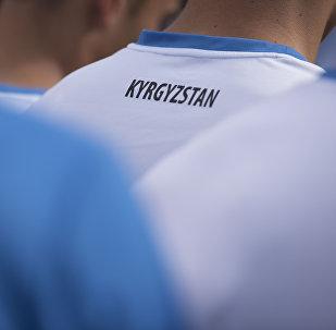 Форма футболиста сборной Кыргызстана. Архивное фото