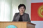 Ак-Талаа районунун акиминин орун басары Жылдыз Мамбетованын архивдик сүрөтү