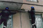 Бишкек шаарынын 4-кичи районунан куткаруучулар 2-кабаттан өткөн газ түтүкчөлөрүнүн арасына туруп калган мышыкты чыгарышты
