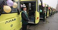 Водители общественного транспорта  в Оше. Архивное фото