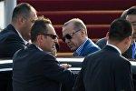 Түркиянын президенти Режеп Тайип Эрдогандын автоунаанын алдында. Архивдик сүрөт