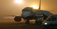 Туман в аэропорту. Архивдик сүрөт