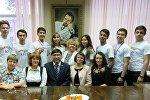 Кыргызстандагы Кыргыз-орус славян университетинин медициналык факультетинин студенттери Новосибирск шаарында өткөн эл аралык олимпиадада