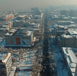 Бишкек шаарына асмандан көрүнүш.