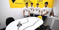 Робот Флешбек ездил и сам поворачивался — творение школьников из Нарына