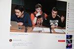 Снимок с видеохостинга Youtube группы Официальный канал КВН. Участники команды Азия MIX из Кыргызстана отвечают на вопросы пользователей
