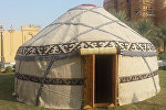 Кыргызская юрта установленная катарским шейхом Сани бин Абдулла Алсани в честь национального праздника республики Катар