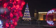 Главная новогодняя елка на площади Ала-Тоо. Архивное фото