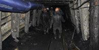 Шахтеры спускаются на шахту. Архивное фото