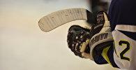 Хоккеист сборной Кыргызстана. Архивное фото