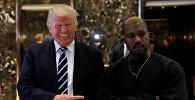 Встреча избранного президента США Дональда Трампа с рэпером Канье Уэстом. Архивное фото