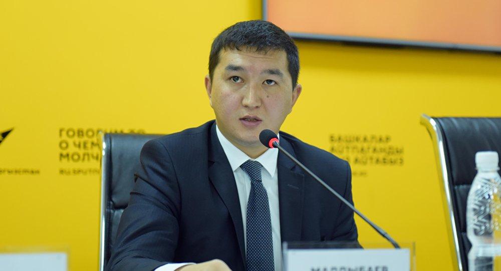Бишкек мэриясынын экономика жана каржы бөлүмүнүн башчысы Адилет Малдыбаев. Архив